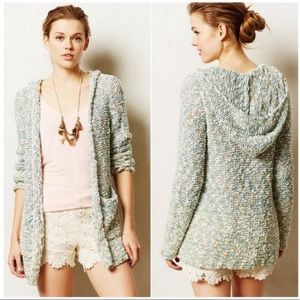 Anthropologie Moth Marled Hooded Cardigan Small